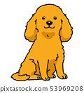 英國可卡犬坐 53969208