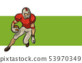 American football player isolated on white background. Vector 53970349