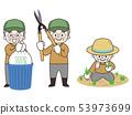 일하는 노인 남성 53973699