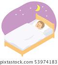 睡在床上的男人 53974183