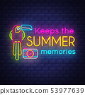 Keeps the summer memories.  Summer holiday banner 53977639