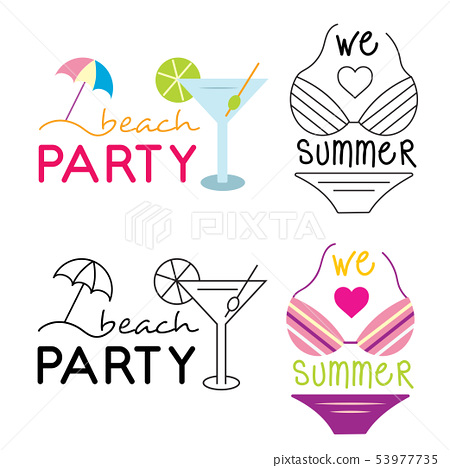 Summer holiday poster collection. Vector 53977735