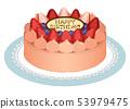 생일 케이크 (초콜릿) 53979475