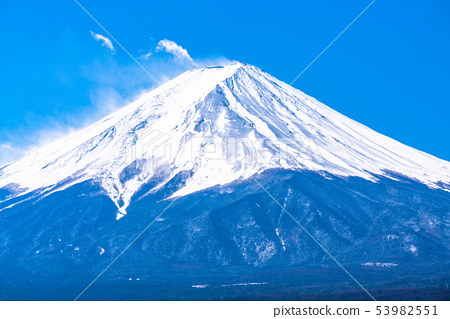 """山山縣""""從富士山和川口湖 53982551"""
