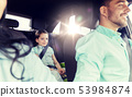 happy family with little child driving in car 53984874