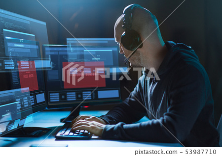 hacker with access denied messages on computers 53987710