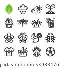 spring icon set 53988476