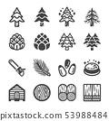 松树 图标 树木 53988484