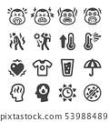 heat stroke icon set 53988489