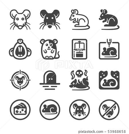 rat icon set 53988658