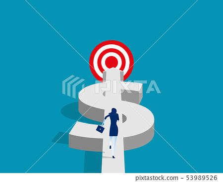 Manager with target and wealth to success. Concept 53989526
