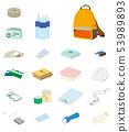 防灾用品象集合的例证 53989893