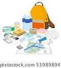 紧急的内容实施危险地图的袋子和irra 53989894