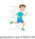 Boy running. kid Marathon runner or a boy running 53992196