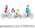 Vector illustration of family ride the bike. 53992201