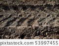 Trace of tracklaying tractor. 53997455