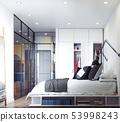 modern bedroom interior. 53998243