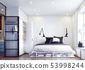 modern bedroom interior. 53998244
