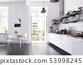 modern scandinavian style kitchen interior. 53998245