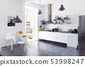 modern scandinavian style kitchen interior. 53998247
