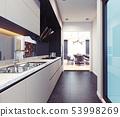 modern kitchen interior design. 53998269