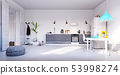 modern kitchen interior design. 53998274