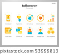 Influencer icons flat pack 53999813