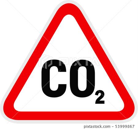 Triangular red Warning Hazard Symbol, vector 53999867