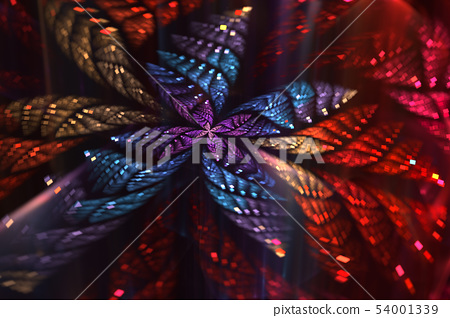 Glittering abstract fractal Butterfly. 54001339