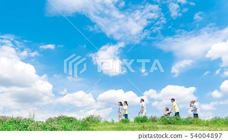 Senior, walk, help, care 54004897