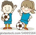 孩子享受足球 54005564