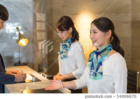 年輕女性,兩個人,接待,登記入住 54006670