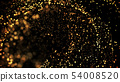 gold particles glisten in the air, gold sparkles in a viscous fluid have the effect of advection 54008520