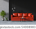 interior living room wall concrete with sofa 54008983