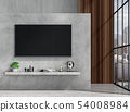 interior living room with smart tv, sofa 54008984