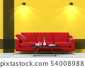 interior living lighting room brick wall with sofa 54008988