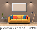interior living lighting room with sofa. 54008990