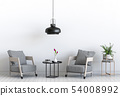 interior living room with armchair 54008992
