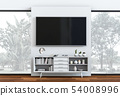 interior modern living room with Smart TV 54008996