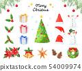 聖誕圖案插圖集(手繪) 54009974