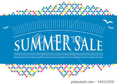 여름 세일 엽서 템플릿 54012050