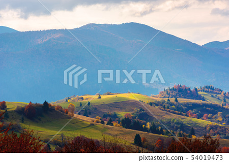mountain rural area in late autumn season. 54019473
