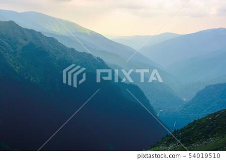 mountain ridge on a cloudy day 54019510