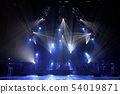 Free stage with lights, lighting devices. 54019871