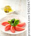 蕃茄和混雜的葉子沙拉 54020847