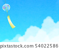 Background material _ wind bell and entrance cloud 54022586