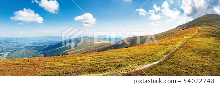 panorama of a mountain landscape on a sunny day 54022748