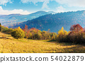 sunny autumn morning in countryside 54022879