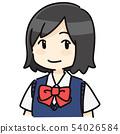 短髮女學生長袖 54026584