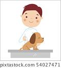 注射狗的一位男性兽医的例证 54027471